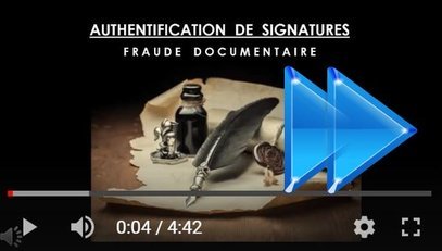 Expertise graphologique et authentification de signatures sur youtu.be